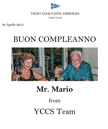 Mario's YCCS Birthday Trip, April 2015